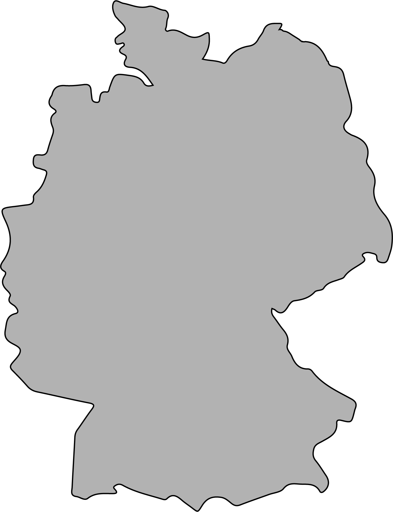 Germany borders image