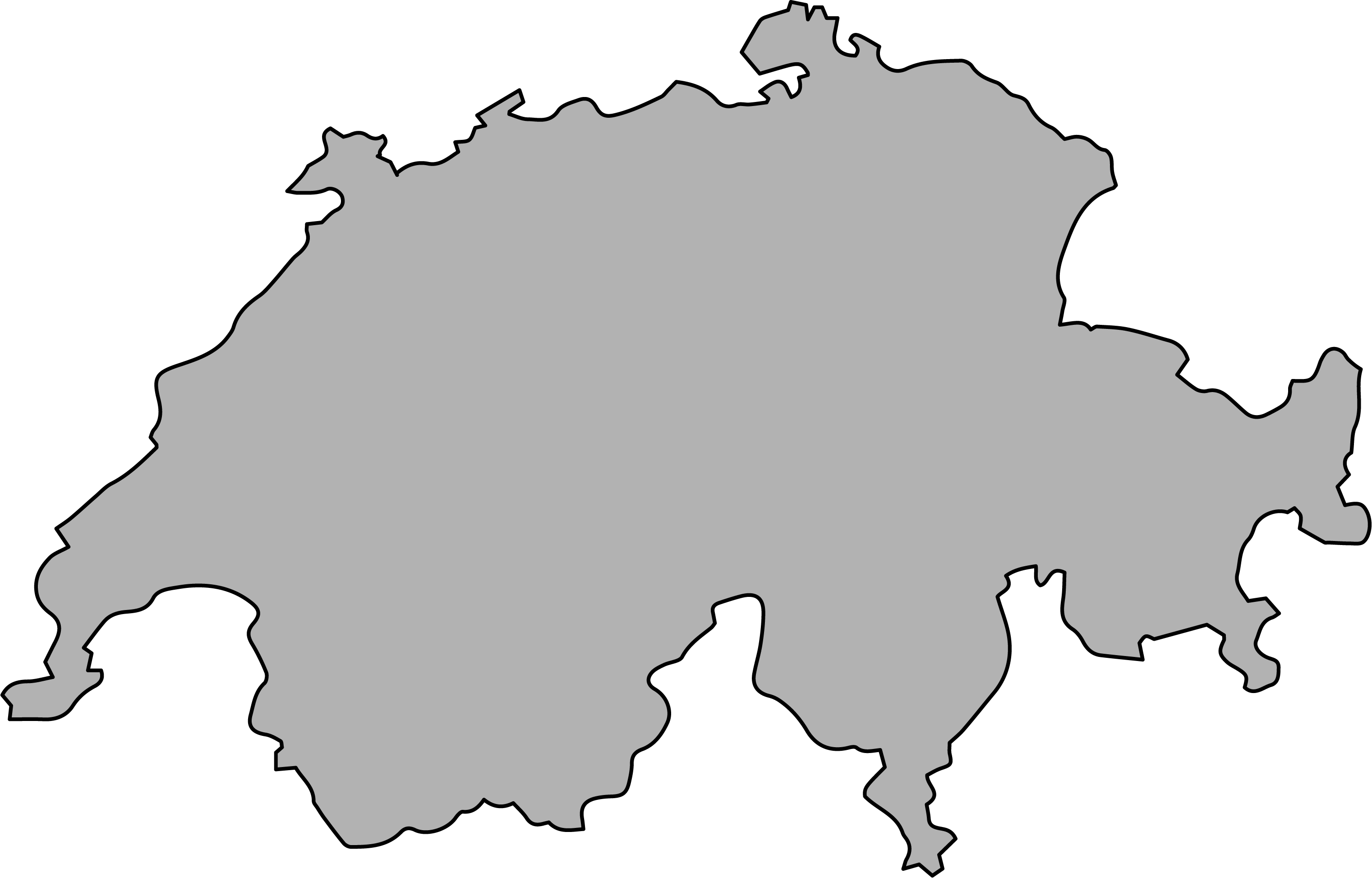 Switzerland borders image