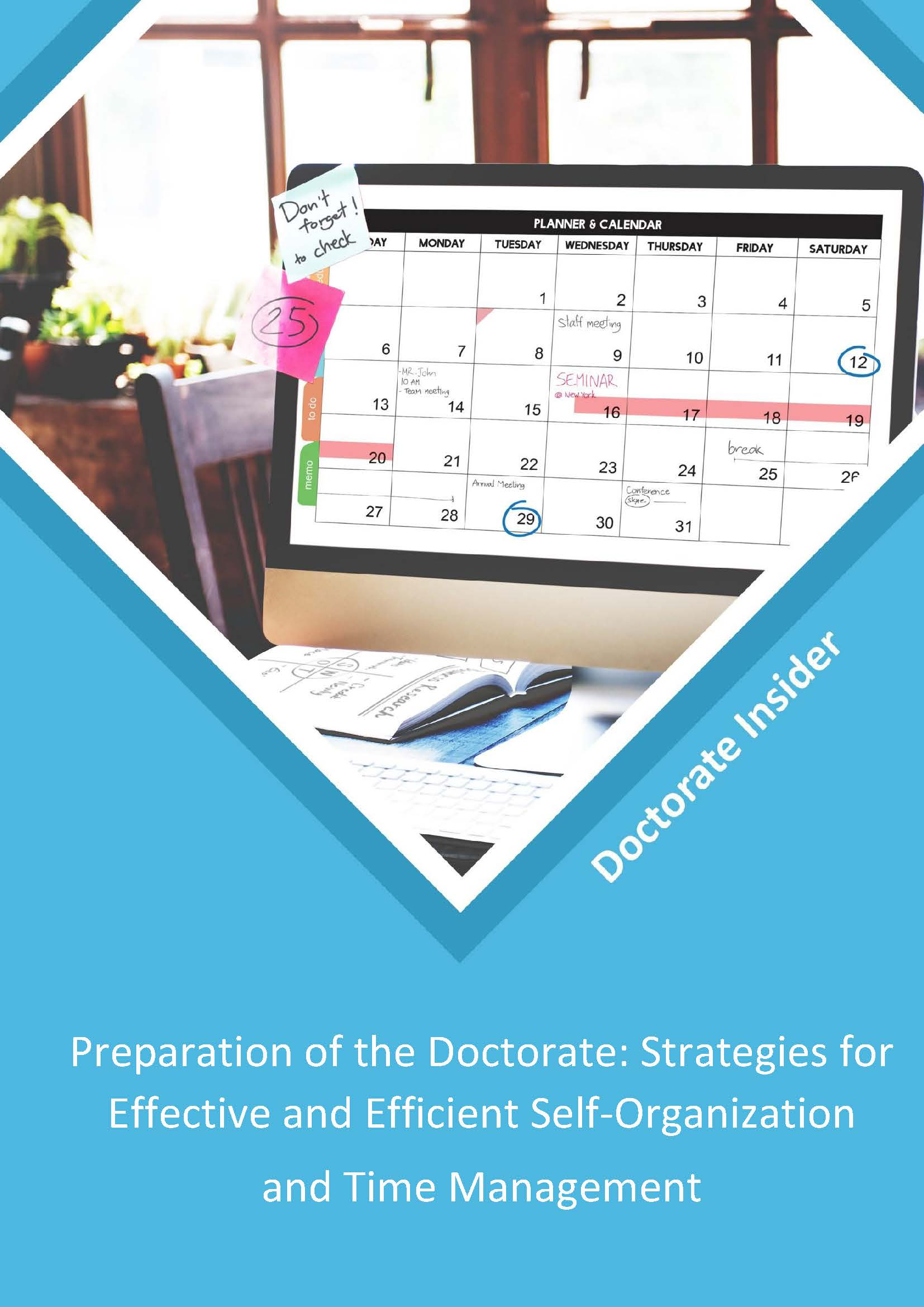 PREPARATION OF THE DOCTORATE: STRATEGIES FOR EFFECTIVE AND EFFICIENT SELF-ORGANIZATION AND TIME MANAGEMENT